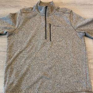 Eddie Bauer pullover gray and blue lining